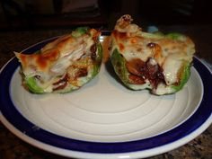 Never trust a skinny cook....: Philly cheesesteak stuffed peppers