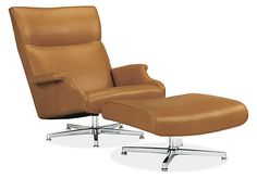 A leather lounge chair that invites you to sit back and relax for as long as you'd like, Beau offers exceptional comfort at a great value. Sized to fully support your head and back, Beau features plush cushioning, softly flared arms and a swivel base.