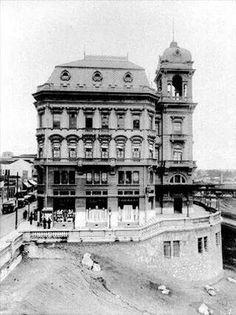 Década de 20 - Palacete Prates onde estava a sede do Automóvel Clube.