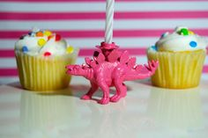 Pink Dinosaur Candle Holder by TonysDinostore on Etsy