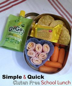 Lunch Made Easy: Allergy Friendly Lunch Box Ideas Simple & Quick Lunchbots Gluten & Nut Free School Lunch