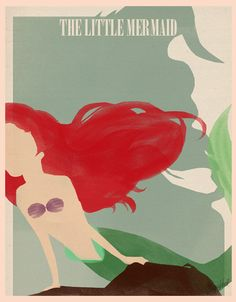 The Little Mermaid Minimalist Poster - disney-princess Photo