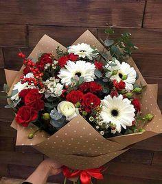 Your local flower shop. Your local flower shop. How To Wrap Flowers, My Flower, Fresh Flowers, Beautiful Flowers, Wild Flowers, Beautiful Flower Arrangements, Floral Arrangements, Bouquet Champetre, Luxury Flowers