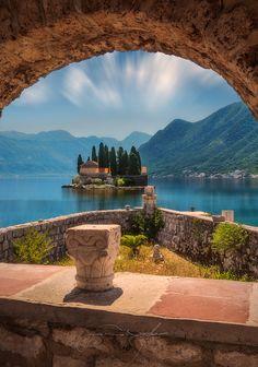 coiour-my-world:  TWO ROCKS by Beno Saradzic  Tiny island of St. George Montenegro