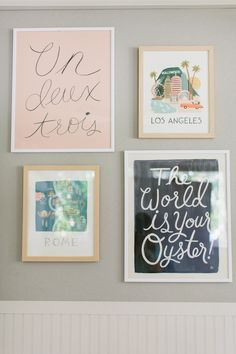 Taylor Sterling's Nursery/Office Makeover | theglitterguide.com | love all the rifle prints!
