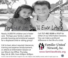 Do something to help today! Become a Foster Parent!