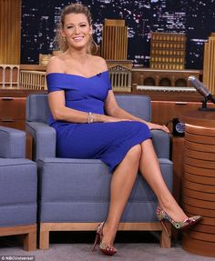 Promotional appearance: Blake was on the late night chat show to publicize her new movie The Shallows that opens in theatres this Friday