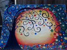 The Tree of Life Painting on Canvas by BBsBlessings on Etsy, $55.00
