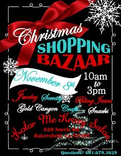 Christmas Bazaar Flyer Invitation