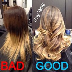 Ombre Hair - The difference between dip dye and ombr!