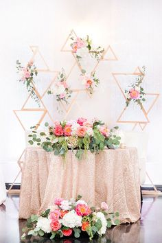 Geometric Sweetheart Table