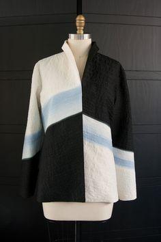 Alternate Chevron #Jacket in Black, White and #Sky #Blue #Ombre #Japanese…