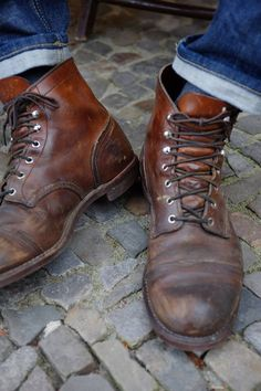 Come in to your local Red Wing Shoes store for an expert fitting! Me Too Shoes, Men's Shoes, Shoe Boots, Dress Shoes, Wing Shoes, Leather Men, Leather Boots, Red Wing Iron Ranger, Basket Sneakers