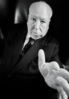 Ara GŰLER :: Alfred Hitchcock in his office at the Universal Studios, Los Angeles, 1974