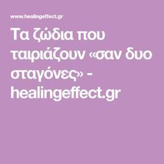 Tα ζώδια που ταιριάζουν «σαν δυο σταγόνες» - healingeffect.gr