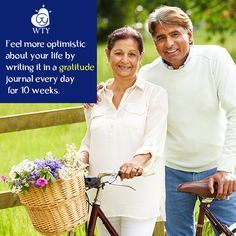 Write in a #gratitude journal every day for 10 weeks and you will likely feel more optimistic about your life. #WannaThankYou #WTY