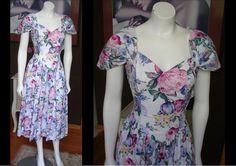 Vintage 1980s Floral Sun Dress by Jessica McClintock Gunne Sax Perfect Spring Dress by WestCoastVintageRSL, $58.00