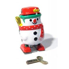 Snowman : Frosty the Snow Man : Classic Wind Up : Tin Toy Take-Out : Stocking Stuffer