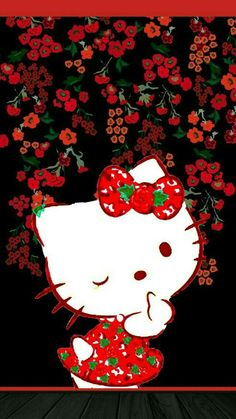 Hello Kitty Iphone 6 Wallpaper, Red Wallpaper, Butterfly Wallpaper, Phone Wallpapers, Hello Kitty Pictures, Kitty Images, Hello Kitty Backgrounds, Hello Kitty Wallpaper, Hello Kitty Art