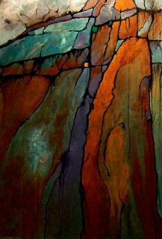 """CAROL NELSON FINE ART BLOG Geological Abstract Painting """"Wood"""