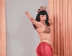 Bette Page gif Bust A Move, Pin Up Models, Pretty Females, Bettie Page, Perfect Woman, Celebs, Celebrities, Design Crafts, Belly Dance