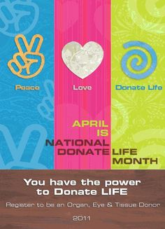 Peace, Love, Donate Life Organ Donation, Blood Donation, Donation Quotes, Living Kidney Donor, Cystic Fibrosis, Save Life, Peace And Love, Blood Drive, Organ Transplant
