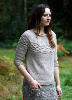 Heather Jumper Knitting Pattern - Shame this is a DK Knit, not an Aran