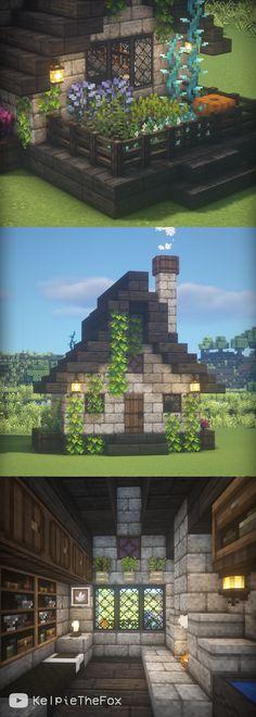 Minecraft Garden, Minecraft Mansion, Easy Minecraft Houses, Minecraft Plans, Minecraft Blueprints, Minecraft Crafts, Minecraft Stuff, Minecraft Things To Build, Minecraft Build House