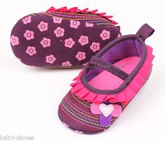 Infant Baby Girl's Crib Shoes Infant Mary Jane Size 0-6 6-9 9-12 Months