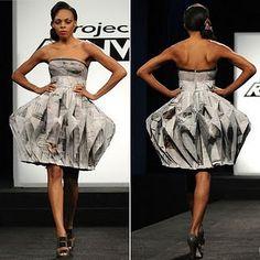 Newspaper Runway Dress