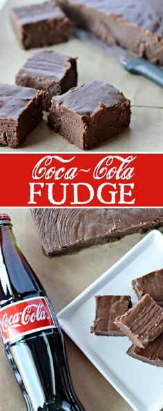 Fudge Recipe Coca-Cola Fudge Recipe: A quick and simple recipe for chocolate fudge with Coca-Cola cooked right inside.Coca-Cola Fudge Recipe: A quick and simple recipe for chocolate fudge with Coca-Cola cooked right inside. Brownie Desserts, Oreo Dessert, Mini Desserts, Easy Desserts, Delicious Desserts, Dessert Recipes, Holiday Baking, Christmas Baking, Christmas Fudge
