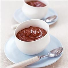 Microwaved chocolate pots recipe. For deliciously easy chocolate pots, simply microwave for quick results. These are absolutely fabulous to finish off family meals or dinner parties.