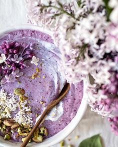 Blueberry Lilac Smoothie Bowl | by VANELJA