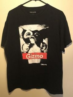 61d3f97226124 Gremlins Gizmo Vintage T-Shirt Graphic Tee Movie Promo Size L  Gremlins   GraphicTee
