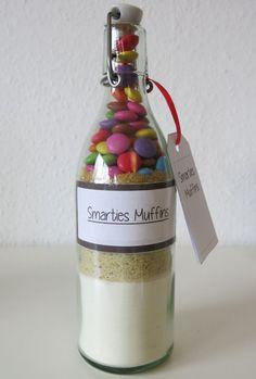 Smarties Muffins Backmischung im Glas