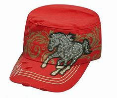 71f1921f186 Showman Couture Junior Running Horse Cadet Style Hat