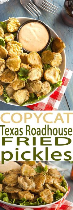 Easy Deep Fried Pickles Recipe is the best appetizer around. It's a copycat … Easy Deep Fried Pickles Recipe is the best appetizer around. It's a copycat Texas Roadhouse Fried Pickles recipe that is amazing. Fried Pickles Recipe, Deep Fried Pickles, Air Fryer Recipes Pickles, Recipe With Pickles, Baked Fried Pickles, Cooking Recipes, Healthy Recipes, Healthy Sauces, Air Fruer Recipes