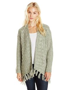 Kensie Women's Comfy Knit Open-Front Sweater Cardigan with Fringe -- Unbelievable  item right here! : Women clothing