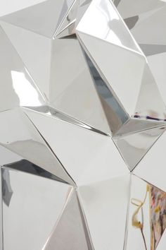 Giant geometric reflective sculpture