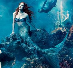Mermaids....I've been fascinated since reading The Little Mermaid by Hans Christian Andersen about a million times!