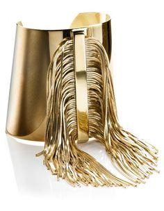 CA  Yellow Gold Fringe Cuff