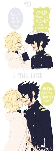 YuuMika | MikaYuu Height Difference Comic by selseus on DeviantArt