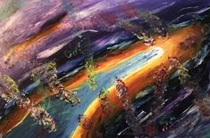 Journey Through Our Galaxy Beyond the Speed of Light Painting Light Painting, Space Painting, Original Paintings, Original Art, Colour Field, Abstract Expressionism Art, International Artist, Abstract Styles, Cosmos