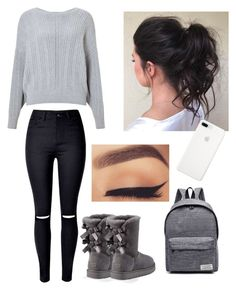 """""""Lazy day"""" by pinkj3w3l ❤ liked on Polyvore featuring Miss Selfridge, UGG and WithChic"""