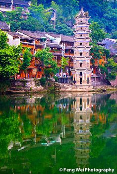 Fenghuang (Phoenix|凤凰), an ancient town in western Hunan province, China
