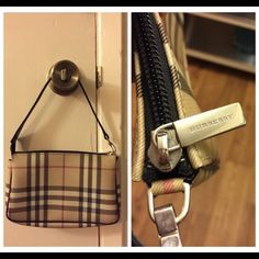 Burberry shoulder mini-bag AA++ purse. Used in good condition. Brand engraved on zipper and shoulder strap. Tagged inside with brand and made in Italy. Well-made purse with a lot of life left. See other listing for imperfections. Burberry Bags Mini Bags