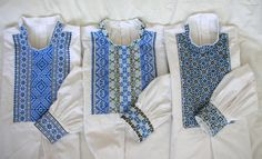Slovak men folk shirts from region Myjava