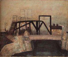 """松本 竣介 """"Y市の橋"""" /Shunsuke Matsumoto """"the bridge in Y city"""" 1942"""