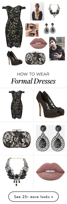 """""""Formal Event with Calum"""" by thatrandomnerdygirl on Polyvore featuring WithChic, Dolce&Gabbana, Lime Crime, Avenue and Chicnova Fashion"""