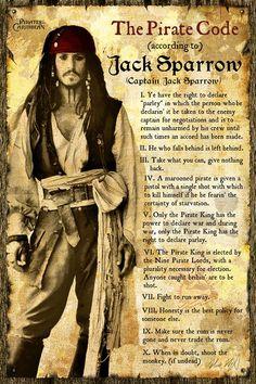 "Pirates: The Pirate Code according to Captain Jack Sparrow. ""We must fight, to run away. Captain Jack Sparrow, Jack Sparrow Memes, Jack Sparrow Savvy, John Deep, Pirate Code, Film Disney, Kino Film, Marlon Brando, Pirates Of The Caribbean"